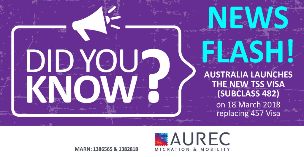 NEWS FLASH: Australia launches the new TSS visa – Aurec
